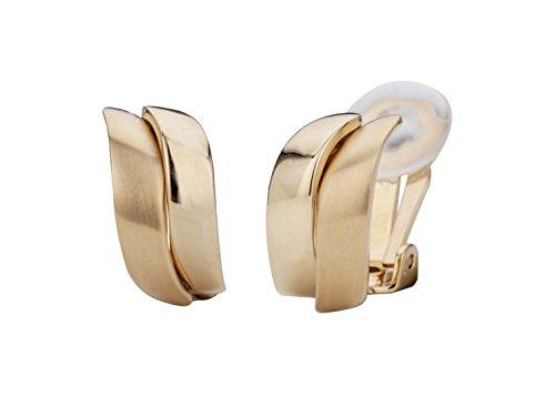 Traveller Orecchini a clip-oro placcato 22carati, bicolor o rodiato-opaco/Lucido e base metal, colore: gold, cod. 155100