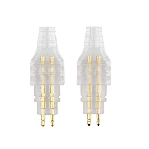 Lcuihong-Interfaces de Audio Conector de Audio de Cable de reemplazo de 2pcs para Auriculares para HD580 HD600 HD25, Durabilidad (Color : White)