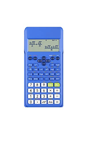 Calculator Junior High School and College Student Exams 252 Calculation Functions 12 Digits Chinese Function Scientific Calculator (Blue)