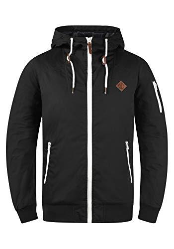 !Solid Tilly Herren Übergangsjacke Herrenjacke Jacke gefüttert mit Kapuze, Größe:M, Farbe:Black (9000)