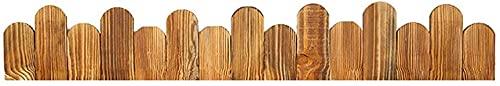 Valla Jardin Borduras Jardin Cerca de borde de madera de pino de paisaje al aire libre Valla de piquete de riel de madera independiente Valla de borde de borde de piquete de madera EIIDJFF 527