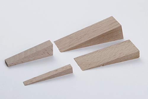 young schwinn DESIGN - Cuñas de madera (14 unidades, madera de haya, varios tamaños), color natural