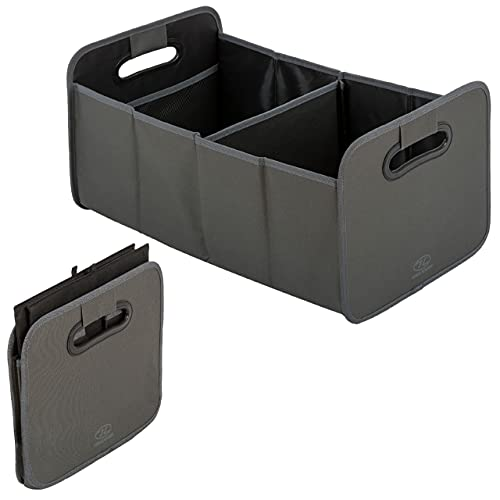 Highlander Sherpa Car Boot Foldable Storage Box - Lightweight Organiser with Reinforced Dividers - Handy Storage Solution for Shopping, Tools, Cleaning Products