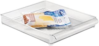 Interdesign Plateau de rangement pour réfrigérateur et congélateur iDesign pour cuisine, Transparent