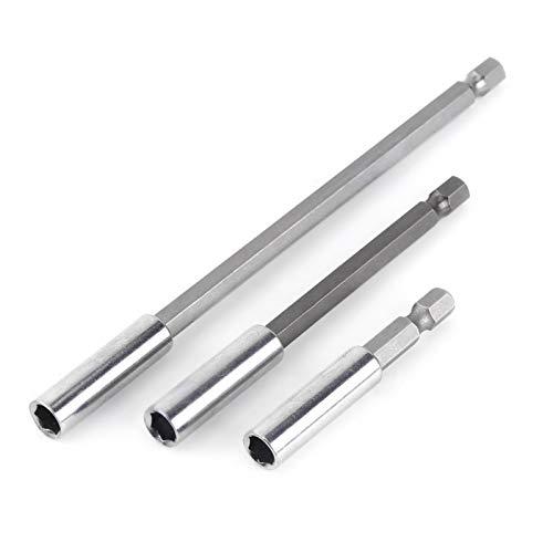 Enchufe para brocas, soporte magnético estable para brocas, soportes para brocas duraderos de tamaño pequeño con magnetismo, 3 brocas resistentes para destornilladores eléctricos domésticos