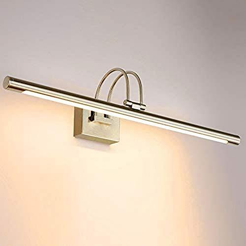 KANGSHENG 13.8'5W LED Moderno baño tocador de luz Fixtur níquel Cepillado Giratorio 180 Grados Baño Baño Belleza Maquillaje Espejo Aplique de Pared Ligh