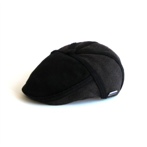 DASMARCA-Collection Hiver-Casquette en Tweed à Chevrons Marron-Roy-L