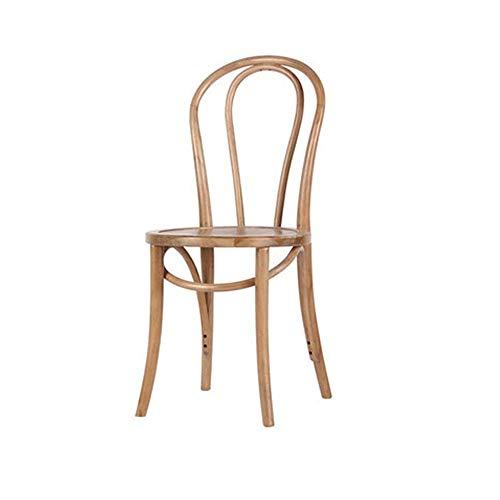 Faiol sillas comedor French American Country Solid Wood Ambientalmente respetuoso con el medio ambiente Silla de comedor, silla retro de la casa de té, ocio Redondo de la silla de la silla de café Tie