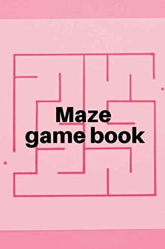 Maze game book: Activity workbook - for all ages or grades - labyrinths from the easiest to the most extreme - suitable for kids and adults - nice gift idea - cover with a pink background