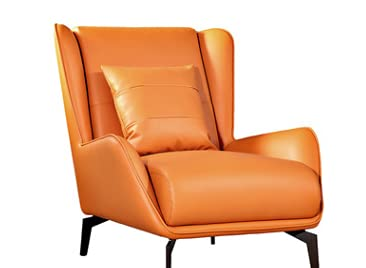 Nordic single person sofa chair modern contracted light luxury tiger chair designer recreational small family lazy person living room balcony yellow lazy person receives a visitor sofa