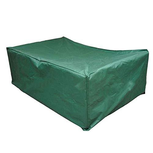 WJHCDDA - Fundas de muebles de jardín para muebles de jardín, impermeable, cubierta de mesa de jardín, cubierta rectangular para patio, color verde (tamaño: 245 x 165 x 55 cm)