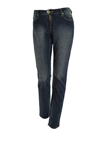 Yell Industry Jeans Donna - Quattro Tasche Dietro con Zip (Taglia 50)