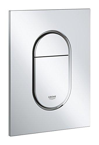 Grohe GRO-37624000 37624000-Arena Cosmopolitan S pulsador Placa de descarga, Nero, Design Größe