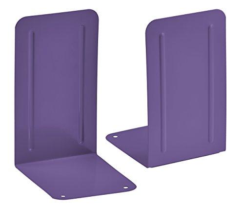 Acrimet Premium Fermalibri Reggilibri Colore Viola Confezione 2 Unità