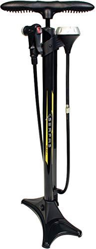 SERFAS(サーファス) 自転車 高圧空気入れ エアフロアポンプ 仏式/米式/英式/ボール/ボートバルブアダプター エアゲージ ロードバイク MTB FP-200 ブラック 046711