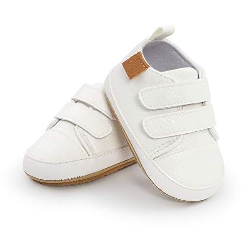 Zapatillas Bebe niño PU Oxford Zapatos Bebe niña Zapatillas Primeros Pasos Antideslizantes...