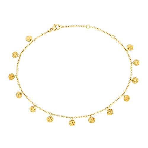 PURELEI® Malihini Coin Fußkettchen (Gold, Vergoldet)