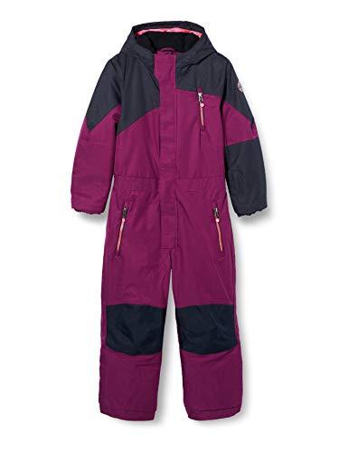 Killtec Unisex Kinder Kesley Mini Skioverall Mit Kapuze Und Schneefang, Pflaume, 98/104