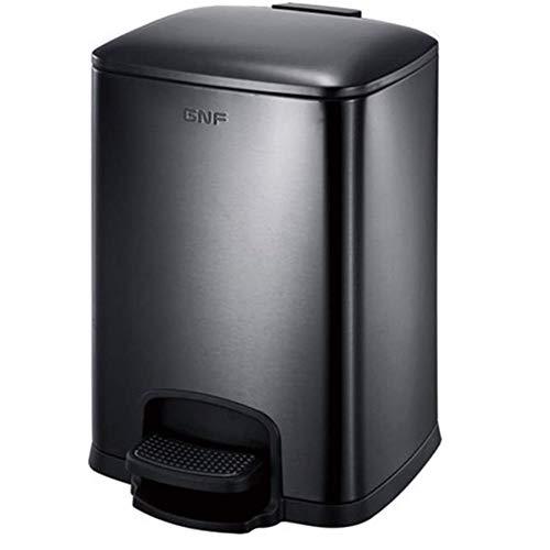 CZWYF La basura de cocina paso puede pedal del compartimiento de polvo caja de basura papelera de reciclaje de residuos cesta Disposición de basura Bin contenedor de basura con tapa papelera Liner sin