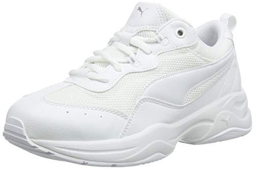 Puma Cilia', Scarpe da Ginnastica Basse Donna, Bianco White-Gray Violet Silver, 41 EU
