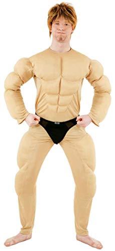 Faschingskostuem Herren Muskel Body