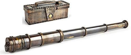 Dollond London 1920 Telescopio hecho a mano | Catalejo náutico antiguo | Reproducción Antigua Funcionante | Monocular en Latón | 15 pulgadas de largo | Decoración coleccionable | Para niños