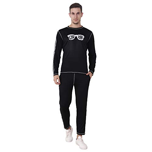 Chauhan Black Color Printed, Sporty Track Suit for Boy's and Men's