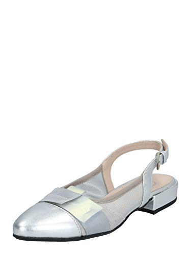 Donna Carolina Damen Slingpumps Silber 39