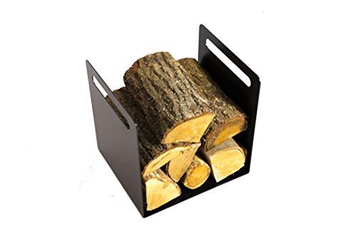tradeNX Holz- und Zeitschriftenkorb aus Metall – Praktischer Korb für Zeitschriften, Handtücher, Kaminholz & Co in modernem, schlichtem Design