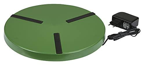 Kerbl Heizplatte für Geflügeltränke, Antirutsch, Netzteil, 250mm 15W / 300mm 22W