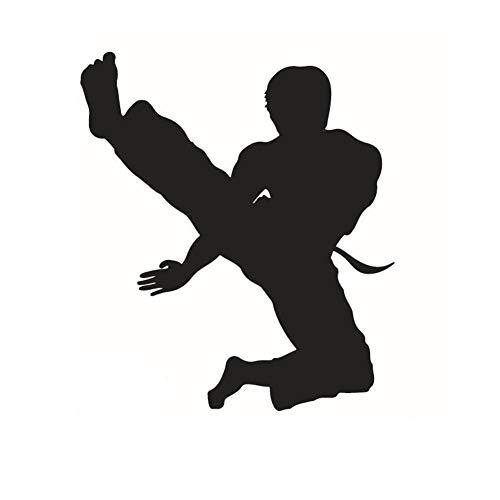 Adhesivo de pared desmontable de la escultura del Taekwondo para el deporte Gym Studio decoración doméstica decoración inspiradora