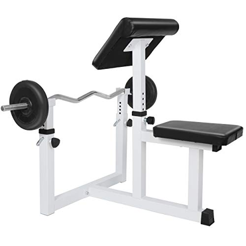 ANT MARCH Preacher Curl Weight Bench Seated Arm Isolated Barbell Dumbbell Biceps Station Home Gym Max load 450lLBS