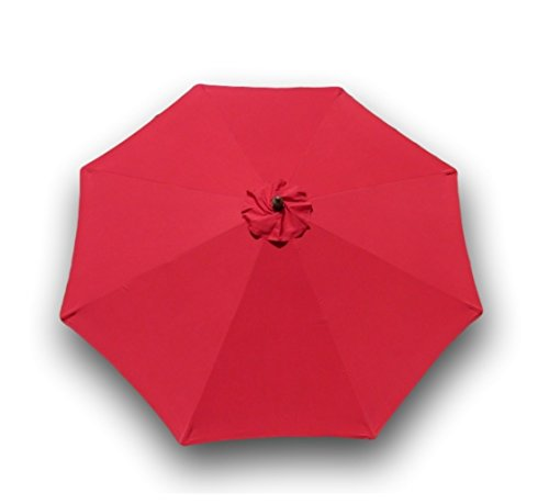 Formosa Covers Replacement Umbrella Canopy for 9ft 8 Ribs Red (Canopy ONLY)