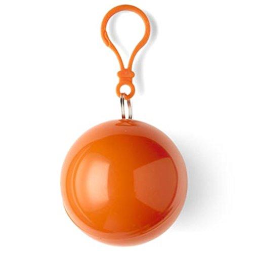 Inconnu ShirtInStyle Poncho d'urgence Univers, idéal pour Open Air, Petit et Vite emballé, Cape imperméable, Regenpocho - Orange