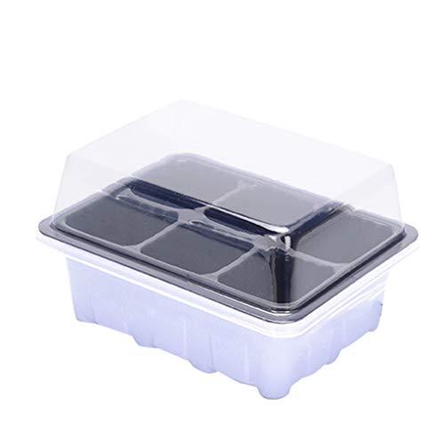 Chunyang 6 Löcher Pflanzenvermehrung Seeding Box Moisture Preservation Kunststoff Seeding-Box Seed wachsen Gehäuse Kunststoff Nursery Starter Tray