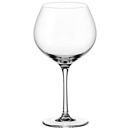 Leonardo Ciao+ Rotwein-Gläser, Rotwein-Kelch mit gezogenem Stiel, spülmaschinenfeste Wein-Gläser, 6er Set, groß, 630 ml, 061450