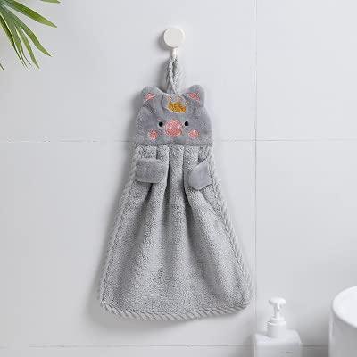 Toalla de mano para bebé, bebé, bebé, toalla de mano, toalla para colgar para bebé, suave, suave, de peluche, lindo, animado, toallita para colgar toallas de baño para niños (color: C)