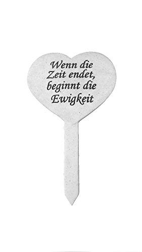 Decoline Grabschmuck Herz mit Inschrift 22,5cm