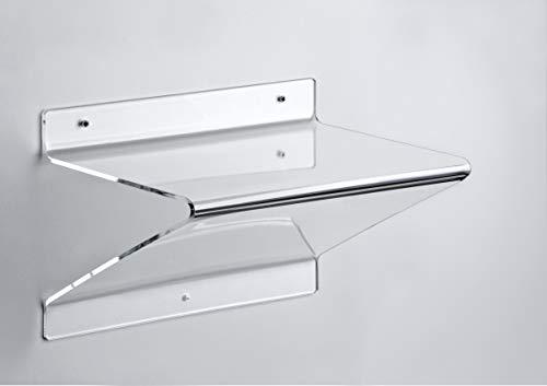 HOWE-Deko Hochwertiges Acryl-Glas Telefonboard/Laptop-Board, klar, 37 x 25 cm, H 25 cm, Acryl-Glas-Stärke 5 mm
