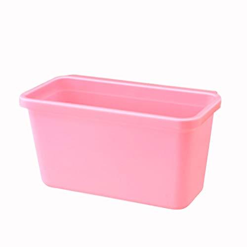 Basura Escritorio Cocina de pared Bote de basura Hogar Sala de estar Dormitorio Cocina Muebles de plástico Caja de almacenamiento (4...