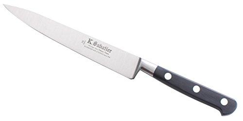 K SABATIER - Filet De Sole 15 Cm Gamme Vintage Au Carbone - Acier Carbone - Manche Noir - 100% Forge - Entièrement Fabrique en France