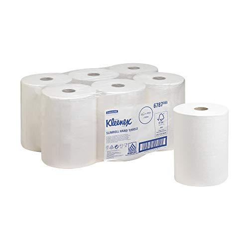 Kleenex 6787 Toallas Secamanos, 6 Rollos X 100m con 1 Capa, Blanco