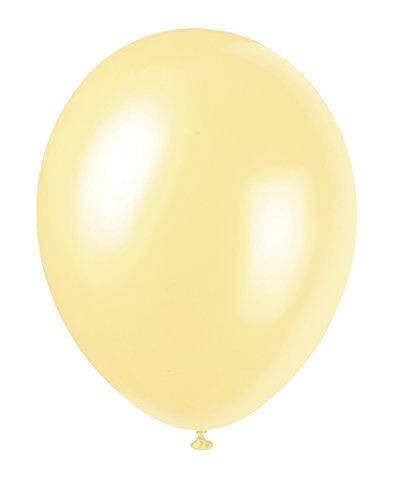 Unique Party - Globos Perlados de Látex - 30 cm - Color Marfil - Paquete de 50 (56872)
