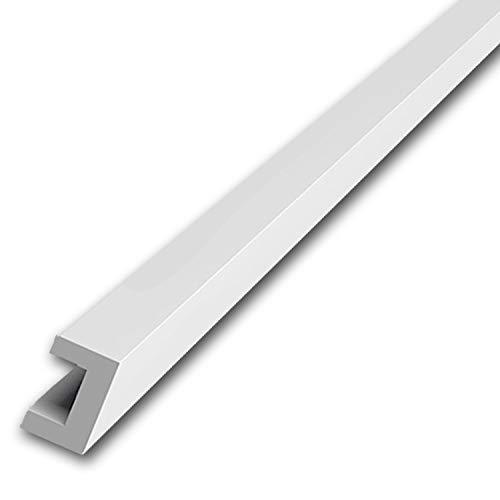 2000mm Aluminium U-Profil 20x35x20mm Kantenprofil aus 1 mm Aluminium silber natur eloxiert Abdeckprofi