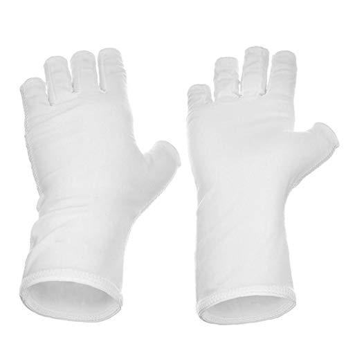 NaisiCore Guantes 1pair Nails UV Pantalla Guante Guante de protección contra los Rayos UV Bloqueador Solar Escudo de conducción manicura de uñas secador del Arte Herramientas joyería para Las Mujeres