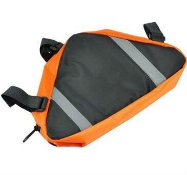 MA-on Bolsa de poliéster impermeable para bicicleta Triángulo bolsa de montura delantera