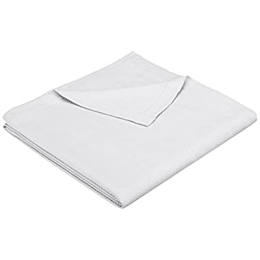 Pinzon Egyptian Cotton Herringbone Blanket - Full/Queen, White