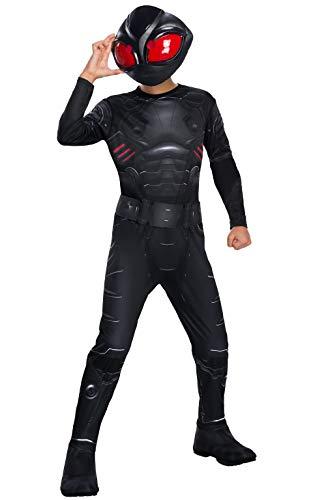 Rubies - Disfraz Oficial de Supervillano de la pelcula de Aquaman de DC, Color Negro, para nios de 3 a 4 aos