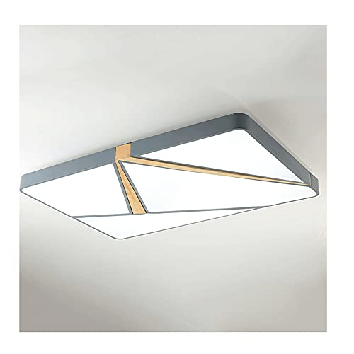Luz incrustada de LED, lámpara de Techo Gris de 132W, luz Blanca, luz cálida, luz de Tres Tonos, Sala de Estar Adecuada, Dormitorio (Color : Light Gray, tamaño : 132W)