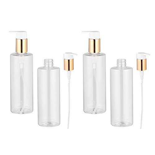Artibetter Leere Shampoo Spender Pumpflaschen 300Ml Durchsichtige Nachfüllbare Plastikflasche Kosmetische Aufbewahrungsflasche für Lotionen Seifen DIY Waschmittel 4St